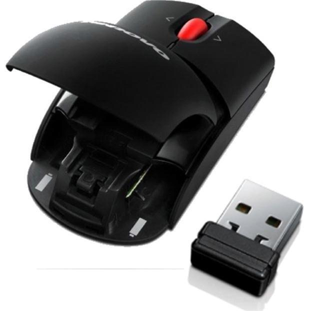 Lenovo Laser Wireless Mouse rat?n RF inal?mbrico 1600 DPI Negro - repuestos moviles originales -2