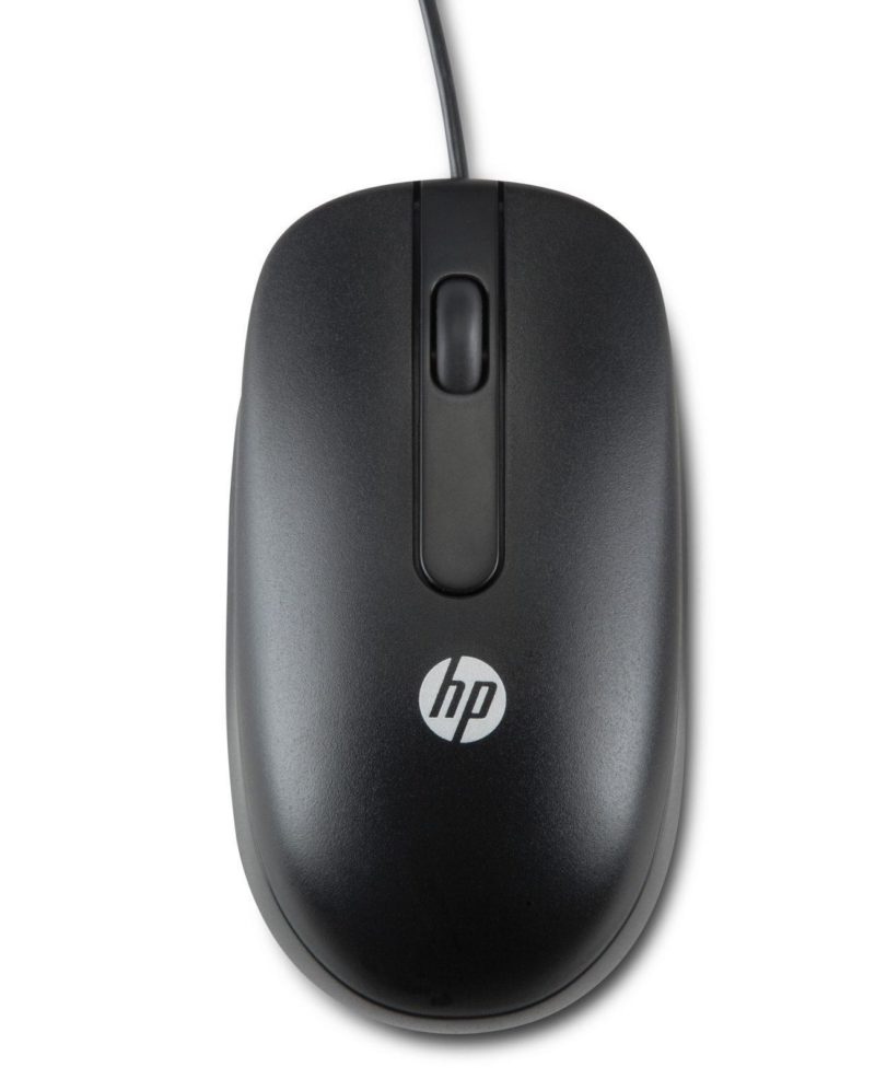 HP USB rat?n ?ptico 800 DPI Ambidextro Negro - repuestos moviles originales -1