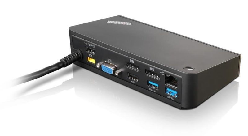 Lenovo 40A40090DK base para port?til y replicador de puertos USB 3.0 (3.1 Gen 1) Type-A Negro - repuestos moviles originales -1