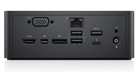 DELL TB18DC base para port?til y replicador de puertos USB 3.0 (3.1 Gen 1) Type-B Negro - repuestos moviles originales -3