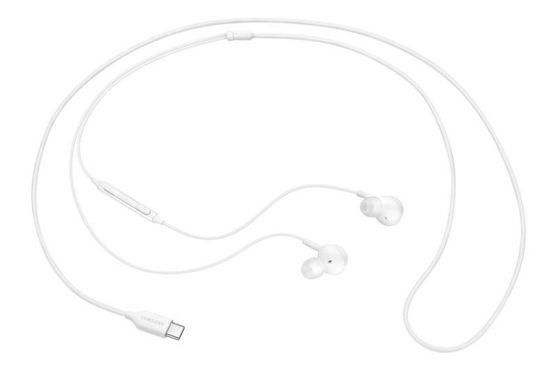 HEADPHONES SAMSUNG EO-IC100 TYPE C WHITE - repuestos moviles originales -1